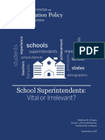 Superintendents' affect on student achievement