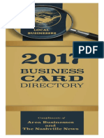 The 2016 Nashville News Business Card Directory