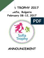 announcement - sofia trophy 2017