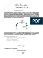 Effet Doppler - Demonstration