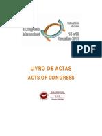 Livro de Actas Congresso Interfaces