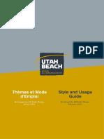 Utah Beach Museum Style Guide