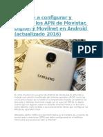 Aprende a Configurar y Corregir Los APN de Movistar