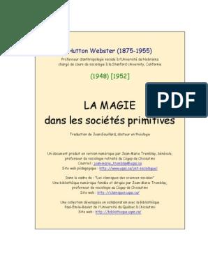 LA MAGIE Dans Les Sociétés Primitives   Magie (Paranormal ...
