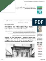24.9.2016, 'Il Mistero Del Villino Liberty a Roma', Artemagazine