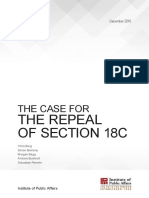 IPA Report the Case for the Repeal of Section 18C 12122016