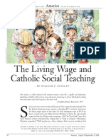 living wage   catholic social teaching