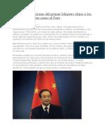 10 Recomendaciones Del Primer Ministro Chino a Los Países Emergentes Como El Perú