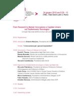 From Research to Market, Innovazione e Capitale Umano nel Trasferimento Tecnologico