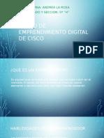 Curso de Emprendimiento Digital de Cisco