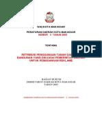 Perda No 3 Tahun 2005 Retribusi Penggunaan Tanah