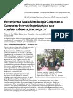 Herramientas Para La Metodología Campesino a Campesino