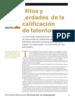 3. Mitos y Verdades Calificacion Talentos GROTE Gestion V14N1 Enefeb09