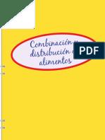 Combinación y distribución de alimentos