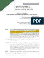 ALVES, E. C. AQUINO, M. a. a Pesquisa Qualitativa - Origens, Desenvolvimento e Utilização Nas Dissertações Do PPGCI-UFPB - 2008 a 2012