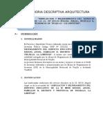 Memoria Descriptiva Arquitectura (1)