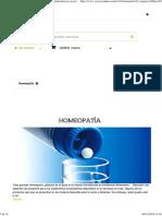 diluciones homeopaticas