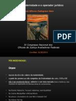 O Operador Jurídico No Contexto Pós-moderno – IV Congresso Nacional Dos Oficiais de Justiça Federal