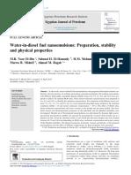 M.R. Noor El-Din Et. Al (2013). Water-In-diesel Fuel Nanoemulsions Preparation, Stability and Physical Properties