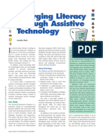 emerging literacy through assistive technology