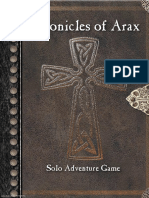 Chronicles of Arax - Solo Adventure Game