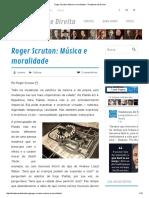 Roger Scruton - Música e Moralidade - A Destruição Da Melodia
