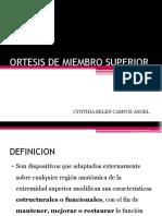 Ortesis de Miembro Superior