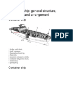 Container Ship General Structure Equipment and Arrangement