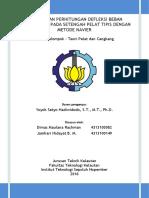 Analisis dan Perhitungan Defleksi Beban Terdistribusi pada Setengah Pelat Tipis dengan Metode Navier