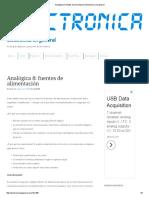 Analógica 8_ Fuentes de Alimentación _ Electrónica en General