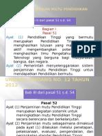 Undang-Undang No 12 TH 2012 Pasal Penjaminan Mutu