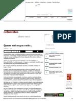 Quanto Mais Negra a Noite... - 13-03-2016 - Clóvis Rossi - Colunistas - Folha de S