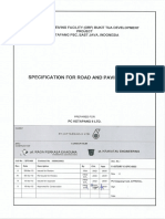 Specification for Road and Paving Works