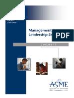 Management and Leadership Skills Series