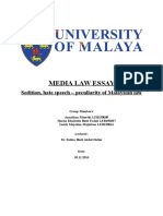 Sedition Act in Malaysia