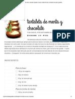 Receta de Tartaleta de Menta y Chocolate