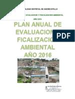 PLAN ANUAL DE EVALUACION Y FISCALIZACION AMBIENTAL AÑO 2016 QUERECOTILLO PRA OEFA PIURA.pdf