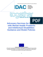 Advocacy Services for People With Mental Health Problems Intellectual Disabilities Guidance Model Policies Text Version