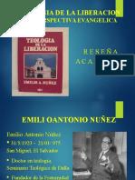 Presentacion de la reseña del Teologia de la Liberación Una Perspectiva Evangélica del Dr. Emilio Núñez