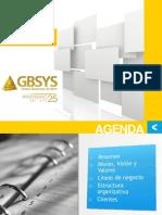 Presentacion de GBSYS - Español- Septiembre 2016