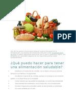 Uno de Los Puntos Claves Para Mejorar Nuestro Bienestar Es La Alimentación