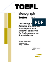 TOEFL Monograph Series