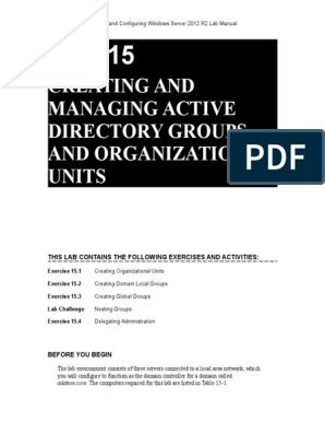Lab 15 | Active Directory | Group Policy