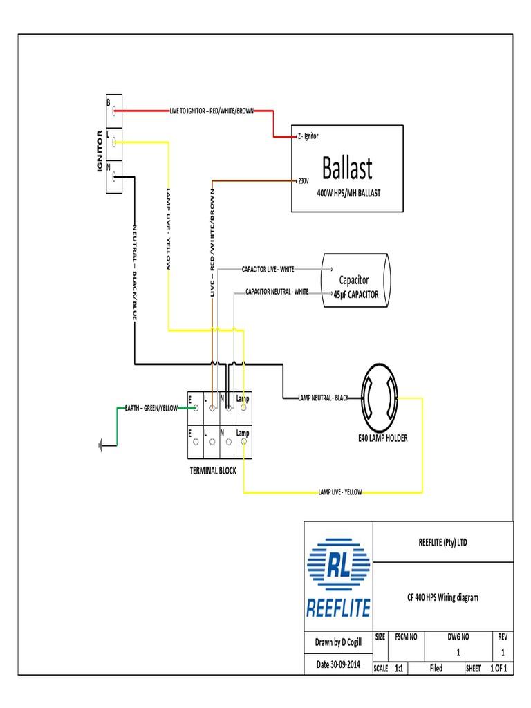 Cf400w High Pressure Sodium Wiring Diagram on