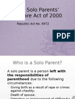 The Solo Parents' Welfare Act of 2000