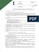 Exame de Selectividade de Latín. Xuño 2010.