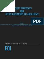 EOI Project Proposals