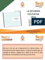 La Reforma Educativa 2016