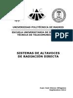 Sistemas de Altavoces de Radiacion Directa