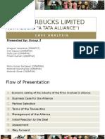 Tata Starbucks Alliance (Group 3)